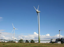 Industrial wind farm Stock Images
