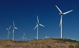 Industrial wind installation. Ecological energy Stock Photos
