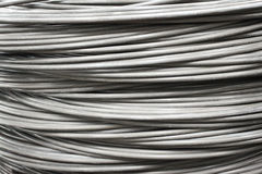 Industrial wire roll background Stock Photos