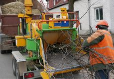 Industrial Wood Chipper. stock photos