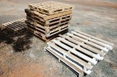 Industrial Wood Pallets Stock Photos