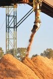 Industrial Wood Processing Chute Stock Photography