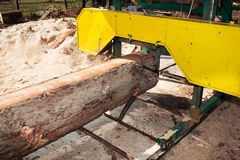 Industrial wood saw Stock Photos