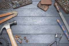 Industrial Workbench Tools Background Royalty Free Stock Photos