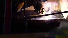 Welding iron sparks