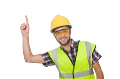 Industrial worker isolated. On the white background Royalty Free Stock Photography