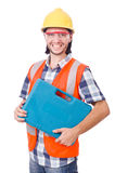 Industrial worker isolated Stock Images