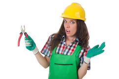 Industrial worker isolated Stock Photography