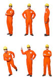 The industrial worker isolated on the white background Stock Images