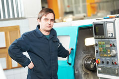 Industrial worker machine operator Royalty Free Stock Photo
