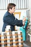 Industrial worker machine operator Stock Image