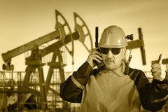 Industrial worker. Oil and gas. Royalty Free Stock Photo