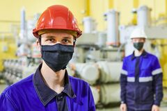 Free Industrial Worker Portrait In Mask At Power Energy Supply Factory Royalty Free Stock Photography - 183636697