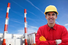 Industrial Worker in Power Plant Royalty Free Stock Photography