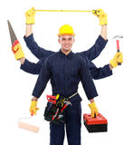 Industrial worker ready to work Royalty Free Stock Photo