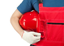 Industrial worker in uniform Royalty Free Stock Photo