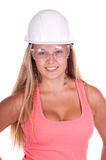 Industrial worker young woman Royalty Free Stock Photo