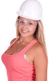 Industrial worker young woman Stock Images