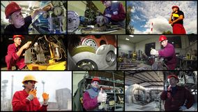 Industrial Workers Concept - Photo Collage royalty free stock image