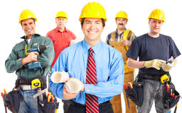 Industrial workers group. stock images
