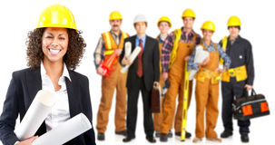 Industrial workers people stock photo