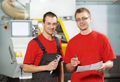 Industrial workers at tool workshop Royalty Free Stock Photo