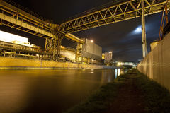 Industrial works at night Stock Image