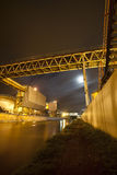 Industrial works at night Royalty Free Stock Photography
