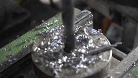 Industrial workshop and industrial products, workers stock footage