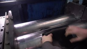 Industrial workshop and industrial products, workers stock video