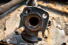 Industrial worn metal closeup photo Royalty Free Stock Photo