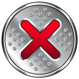 Industrial X or Close Icon Royalty Free Stock Photography