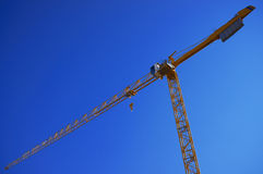 Industrial yellow crane Stock Photo