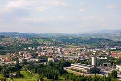 Industrial zone. Photo of industrial zone near Terni in umbria, Italy Stock Image