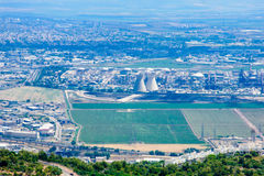 The industrial zone in the bay of Haifa Stock Photo