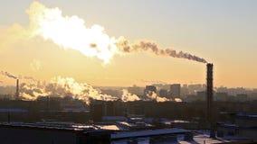 Industrial zone. Ekaterinburg, Russia stock footage