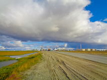 Industrial zone in the Far North Royalty Free Stock Photos