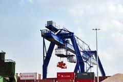 Industrial Zone Frankfurt Stock Images