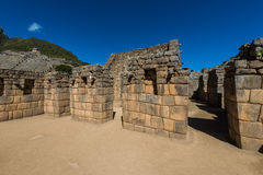 Industrial zone Machu Picchu ruins peruvian Andes  Cuzco Peru Stock Photos