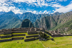 Industrial zone and Main Square Machu Picchu ruins Andes Cuzco P Royalty Free Stock Photos