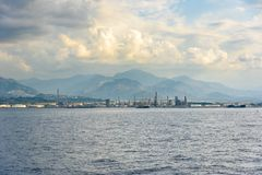 Industrial zone in Milazzo town on Sicily Stock Photos