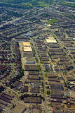 Industrial zone, North America. Industrial zone in North America, aerial view stock images