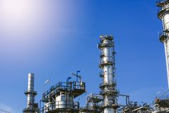 Industrial zone,oil refinery,oil pipeline royalty free stock images