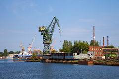 Old shipyard Royalty Free Stock Image