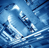 Industrial Zone pipeline Stock Image