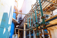 Industrial Zone pipeline Royalty Free Stock Photo