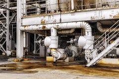 Industrial Zone pipeline Stock Image