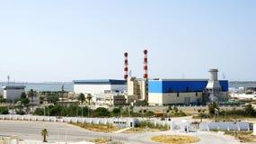 Industrial zone in the port of La Goulette, Tunisia Stock Photo