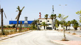 Industrial zone in the port of La Goulette, Tunisia Stock Image