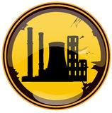 Industrial Zone Round Grunge Sign. Royalty Free Stock Photo